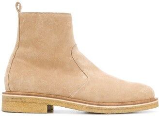 Ami Paris Zipped Boots With Crepe Sole