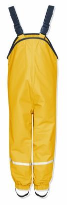 Playshoes Girl's Waterproof Rain Dungarees With Fleece Lining Rain Trousers