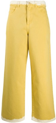 Marni Contrasting Edges Straight Jeans