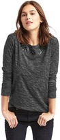 Gap Amour studded graphic long sleeve tee