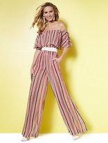 New York & Co. Flounced Off-The-Shoulder Jumpsuit - Stripe