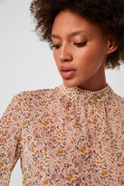 French Connection Delmira Sheer Printed Blouse