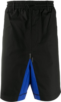 Marcelo Burlon County of Milan Contrast Panel Detail Shorts