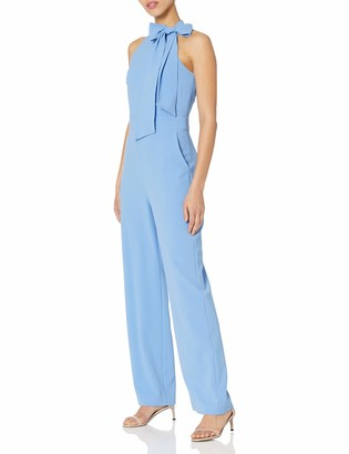 Vince Camuto Women's Signature Stretch Crepe Bow Neck Jumpsuit