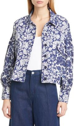 Ulla Johnson Griffin Floral Denim Jacket
