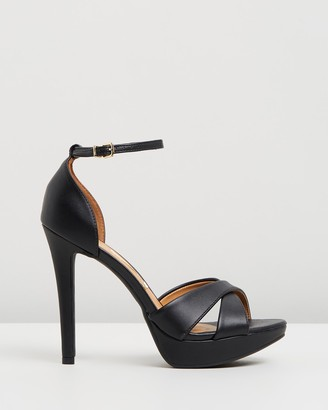 Vizzano - Women's Black Heeled Sandals - Lena Heels - Size One Size, 6 at The Iconic
