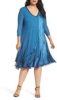 Komarov Plus Size Women's Chiffon Layer Charmeuse Dress