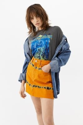 BDG Austin Tie-Dye Mini Skirt - Orange XS at Urban Outfitters