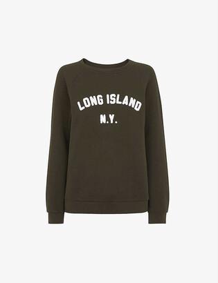 Whistles Long Island slogan-print cotton sweatshirt