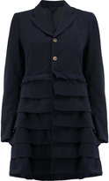 Comme des Garcons tiered detail mid-length coat - women - Polyester - M