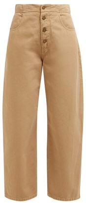 Nili Lotan Toledo High-rise Cotton Jeans - Camel