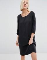 Selected Sinca Shift Dress in Sandwashed Silk