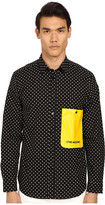 Love Moschino Polka Dot Woven Shirt with Contrast Pocket