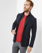 Funnel Neck Jersey Jacket