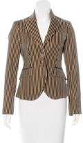 Etro Striped Velvet Blazer