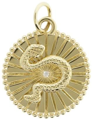 Foundrae 18kt yellow gold Baby Wholeness diamond medallion