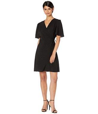 Kensie Pin Dot Wrap Dress KS4K8356 (Black Combo) Women's Dress