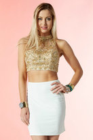 Alyce Paris - 4421 Two Piece Short Dress In Ivory Gold