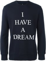 Neil Barrett 'I have a dream' sweatshirt