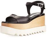 Stella McCartney Faux-Leather Platform Creeper Sandal, Black