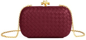 Bottega Veneta Chain Knot Satin Clutch