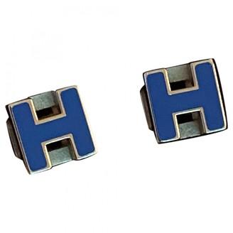 Hermã ̈S HermAs Pop H Blue Silver Earrings