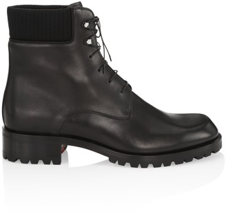 Christian Louboutin Trapman Leather Hiking Boots