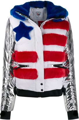 Rossignol Contrast Sleeve Flag Jacket