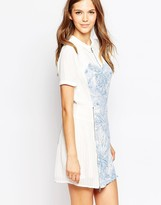 French Connection Flight Of Fancy Flared Shirt Dress