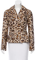 Christian Dior Leopard Print Double-Breasted Blazer