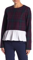 ENGLISH FACTORY Tartan Combo Top