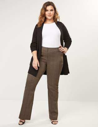 Lane Bryant Curvy Allie Sexy Stretch Boot Pant - Brown Plaid
