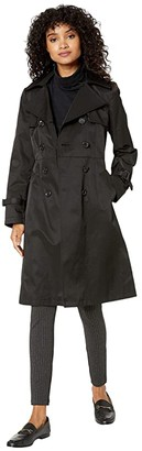 Sam Edelman Hooded Double-Breasted Trench