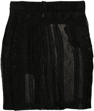 Ann Demeulemeester Knitted Style Buttoned Skirt