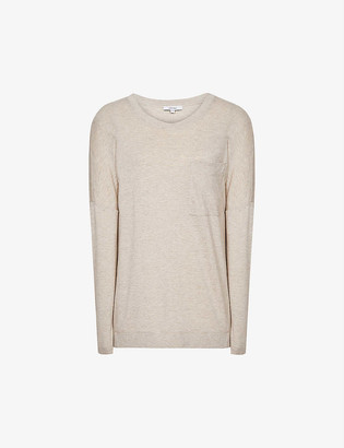 Reiss Coraline long-sleeved stretch-knit T-shirt