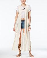 American Rag Crochet-Trim Maxi Vest, Created for Macy's
