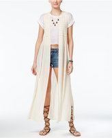 American Rag Crochet-Trim Maxi Vest, Only at Macy's