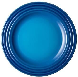 Le Creuset Stoneware Appetizer Plates Blueberry Set of 4