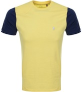 Luke 1977 Skinny Contrast T Shirt Yellow