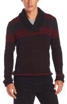 Nautica Men's Fairisle Shawl Collar Sweater
