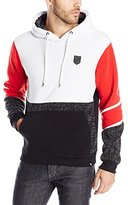 Southpole Men's Hooded Pull Over Fleece with All Over Geometric Prints