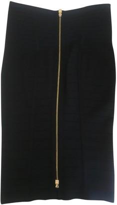 Herve Leger Black Cotton Skirt for Women