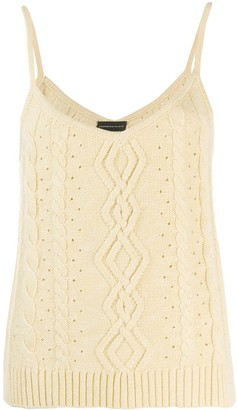 Cashmere In Love Cable Knit Tank Top