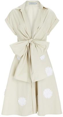 Silvia Tcherassi Paloma Bow Front V-Neck Dress