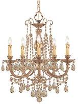 Crystorama Five Light Brass Up Chandelier