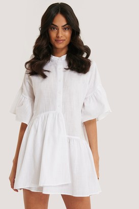 Trendyol Ruffle Short Sleeve Mini Dress