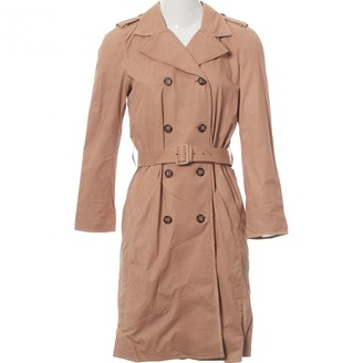 Prada Beige Leather Trench Coat for Women