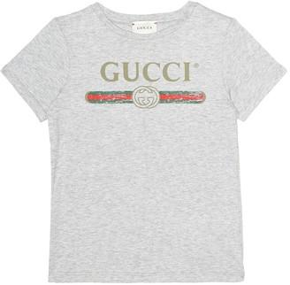 Gucci Kids Printed cotton T-shirt