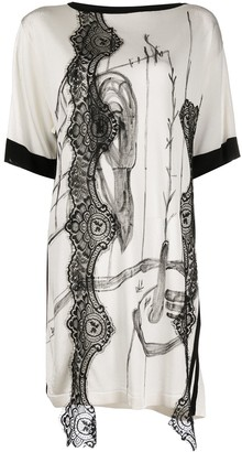 Antonio Marras lace detailed oversized T-shirt
