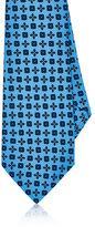 Kiton Men's Medallion-Print Silk Necktie